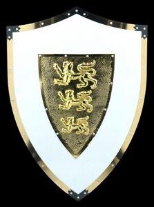 Knight-Shield-Three-Lions-Emblem-Medieval-Shield-Knight-Warrior-Decor