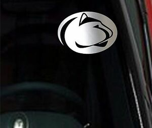 Details About 2 Units Penn State Nittany Lions Chrome Vinyl Car Truck Decal Window Sticker