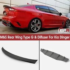 M/&S Matte Black ABS Rear Trunk Wing Spoiler G-Type Fits: KIA 2018+ Stinger