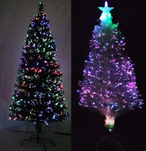 3ft 4ft 5ft 6ft 7ft 8ft Fiber Optic Multicolored Christmas ...