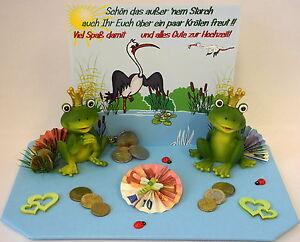 Geldgeschenk Zur Hochzeit Kroten Zur Hochzeit Herzen Frosche