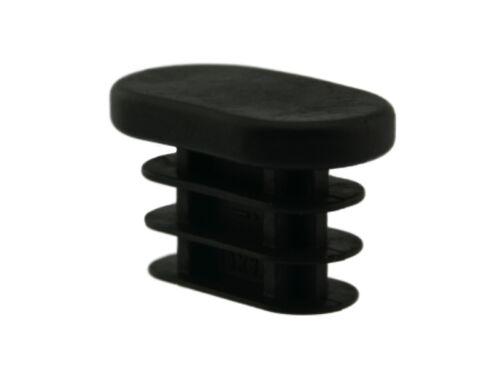 4 x Fussstopfen 30 x 15mm Ovalrohr 34 x 19mm Standfläche Rohrstopfen Fußkappen