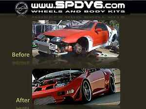 Most Expensive 300zx Show Car Wide Body Kit 19 Spdv6 Forged Wheels