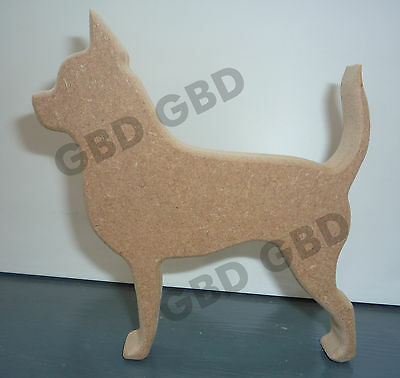 //WOODEN CRAFT SHAPE//BLANK DECORATION CHIHUAHUA CLOCK IN MDF 300mm x 6mm thick