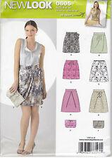 SEWING PATTERN Misses' 5 Skirts & Clutch Purse OOP UNCUT 6 8 10 12 14 16 Summer