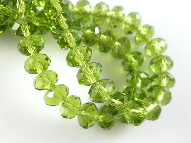 Wholesale 200pcs Faceted Glass Loose Spacer Rondelle Beads Findings 3x2mm