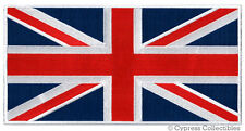 LARGE UK FLAG PATCH embroidered iron-on UNION JACK GREAT BRITAIN ENGLAND