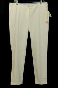 NWT TALBOTS The Weekend Chino Pant White Super Soft Chino Modern M 10 PETITE 10P