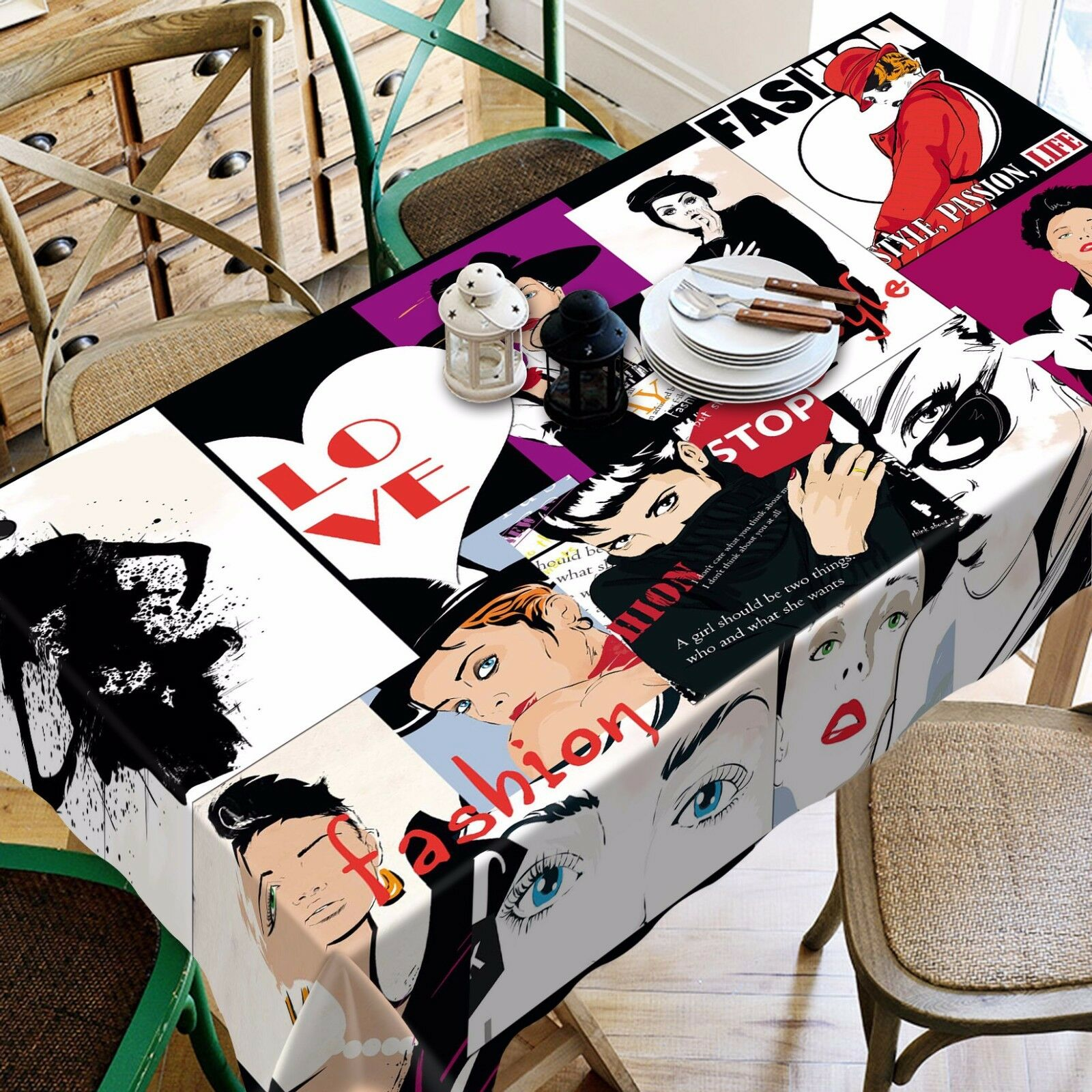 3D Poster femmes 2 Tablecloth Table Cover Cloth Birthday Party Event AJ WALLPAPER