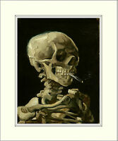 Van Gogh Skull of a Skeleton with Cigarette 10 x 8 Inch Mounted Art Print