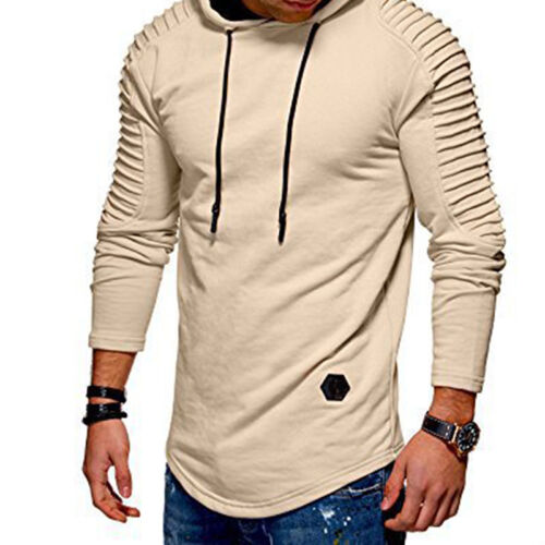Men Top Jacket Coat Slim Fit Hooded Sweatshirt Pullover Sweat Hoodies Plus Size