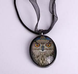 Owl Pendant Necklace 'Wise One' Design by Lisa Parker
