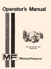 Massey Ferguson Mf 1500 Mf 1800 Owners Operators Manual