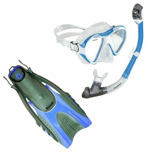 Divers Hingeflex II Diving Fins U.S LX Purge Mask /& Tucsan LX Snorkel Set