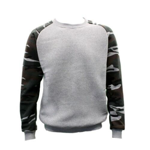 NEW Men/'s Adult Unisex Crew Neck Jumper Pullover Casual Sports Camouflage