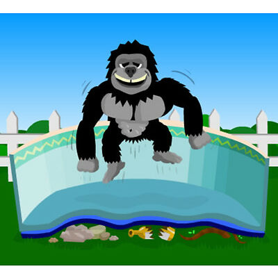 16'x24' Rectangle Gorilla Floor Pad For Above Ground Swimming Pools