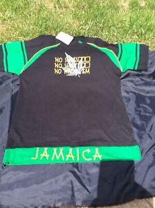 Jamaican Diamond Flag Caribbean Summer Holiday Rastafarian Mens T Shirt