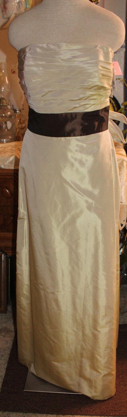 Alyce expresso gold taffeta bridesmaids evening formal long dress 10