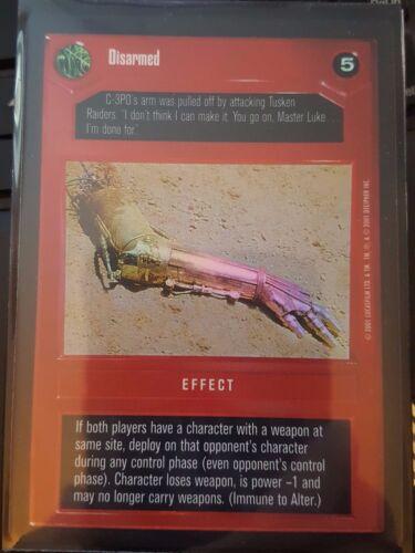 Star Wars CCG Reflections III Disarmed DS FOIL NrMint-MINT