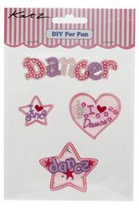 25 x Job Lot Girls Pink Dancer Iron On Motifs Party Bag Fillers MOT-8 By Katz