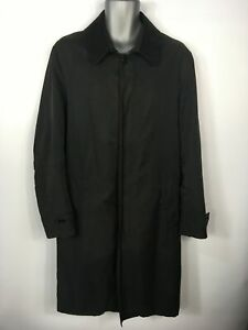 Mens Austin Reed Black Concealed Button Lightweight Smart Rain Coat 44 46 Chest Ebay