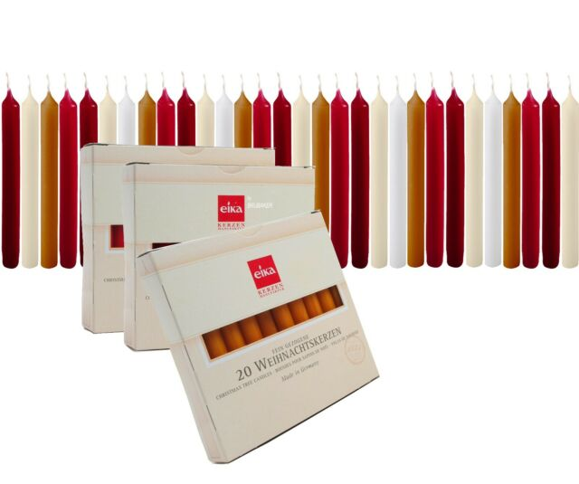 Eika Kerzen.Eika 20 Pack Christmas Tree Candles 4 Chime Party Candles Pyramid Angel Chimes