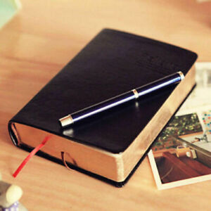 US-Vintage-Thick-Blank-Paper-Notebook-Notepad-Leather-Journal-Diary-Sketchbook