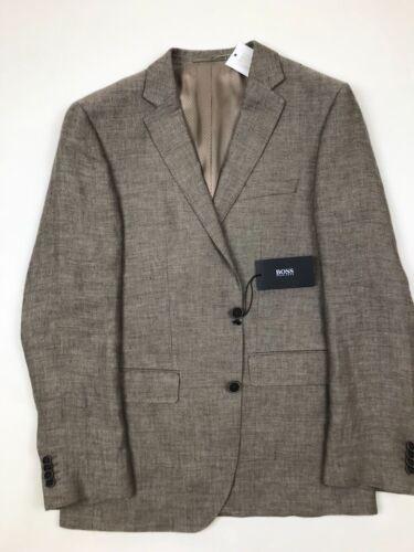 RRP £ 329 Hugo Boss-Brown Herringbone Jacket * NEUF avec étiquettes 40R
