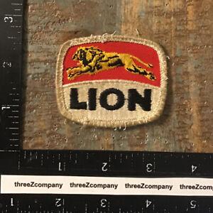 Vintage LION Oil Gas Petroleum Company Logo Patch Rare