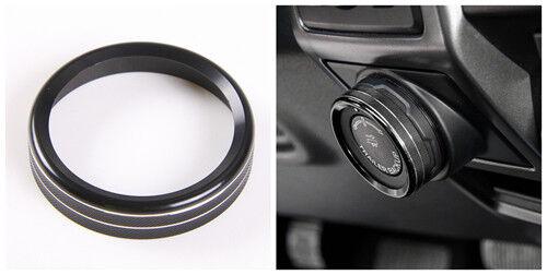 6pcs Black auto Car Air Condition Switch Knob Cover Trim For Ford F150-XLT 16-17