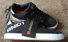 New AND1 Men's 11 Fundamental Low Top Canvas Lace Up Black Sneakers Shoes Tennis