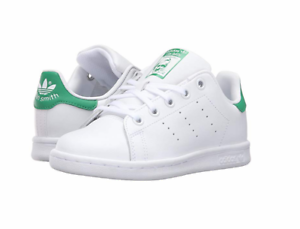 2b201fc3882c6 ADIDAS BA8375 STAN SMITH C Yth´s (M) White White Green Leather ...