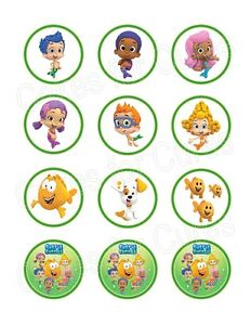 bubble guppies cake toppers guppies edible cupcake toppers decoration 2100
