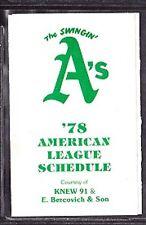 1977 OAKLAND A'S BASEBALL POCKET SCHEDULE