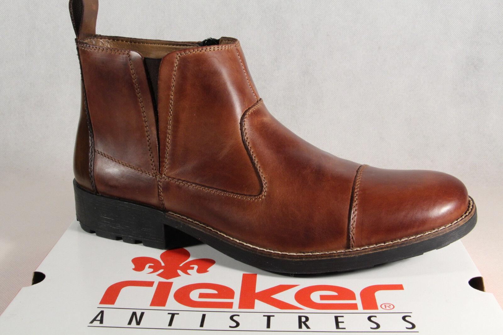 Cómodo y bien parecido Rieker Botas De Hombre 36050 Botines botas de invierno, marrón, piel NUEVO