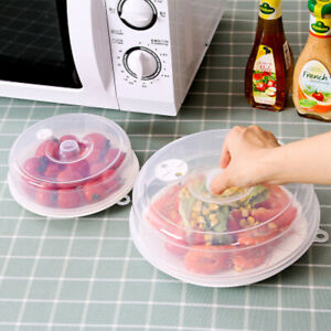Microwave-Plate-Cover-Clear-Steam-Vent-Splatter-Lid-Food-Dish-Kitchen-Tools-Accs