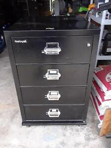 Image Is Loading FireKing Fireproof 4 Drawer Card Check Vertical File