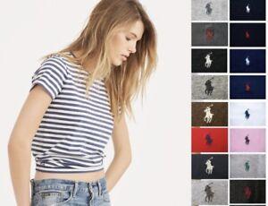 Polo-Ralph-Lauren-Women-039-s-T-Shirt-Tee-Crew-Neck-V-Neck-Striped-Solid