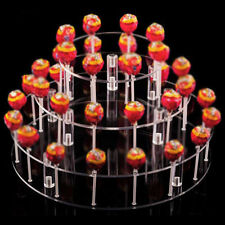 4 Tier Lollipop Wedding Cake Pop 35 Holes Display Stand Holder Base Server Clear