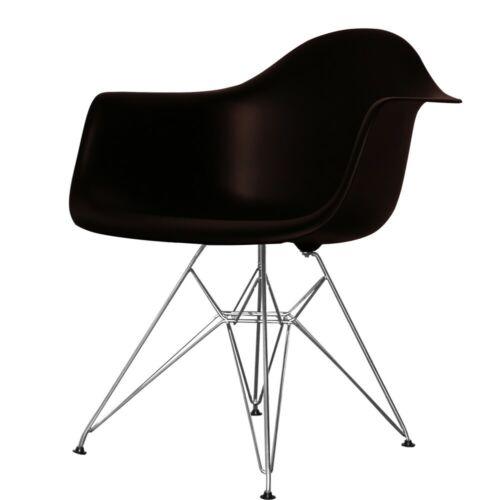 Black Eiffel Style Plastic Retro Armchair - 4 Leg Options/Free UK Delivery
