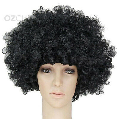 NEW Unisex Afro Curly Hair Costume 70s 80s Wig Wigs Disco Fancy Clown Party