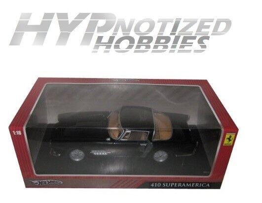 Hot Wheels T6246 Ferrari 410 Superamerica Black 1-18 Diecast Car Model for sale online