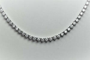 8-29-Carat-tw-D-VSS1-Diamond-24-034-Tennis-Necklace-in-18K-White-Gold-Over-Silver