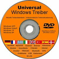 Neu: Universal Windows 7 Vista Xp 8 Treiber Cd Für Notebook Pc Tablet Laptop