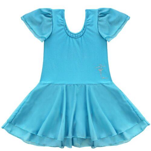 Toddler Girl Kid Gymnastics Dance Dress Ballet Tutu Skirt Leotard Dancewear 3-14