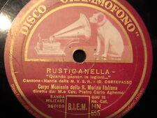 78 GIRI CORPO MUSICA DELLA REGIA MARINA ITALIANA in RUSTICANELLA & INNO A ROMA-2