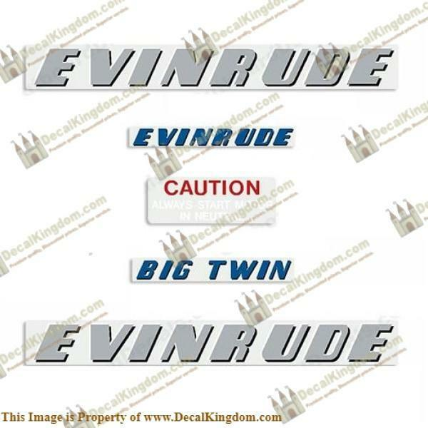 Evinrude 1952 25hp Outboard Decal Kit 3M Marine Grade