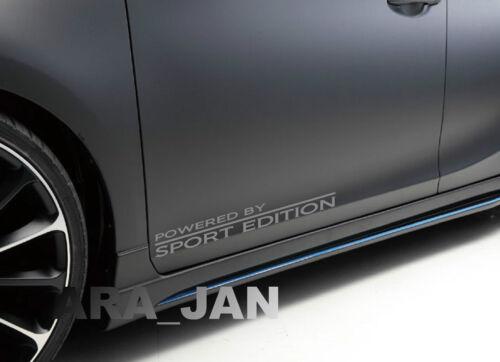 Powered by SPORT EDITION Decal Sticker Racing Car Door Performance Motorsport