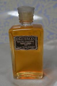 VINTAGE-ECUSSON-Eau-de-Cologne-Parfumee-JEAN-D-039-ALBRET-3-7-OZ-RARE-BOTTLE