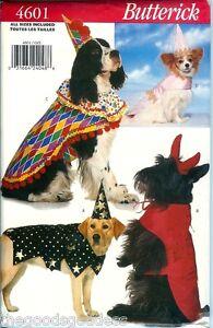 Butterick-4601-DOG-Costumes-Clown-Wizard-Devil-Princess-sewing-pattern-UNCUT-NEW